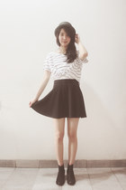 skirt - Topshop boots - cotton on shirt