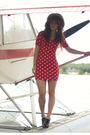 Red-modcloth-dress-black-forever-21-shoes-beige-claires-hat