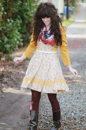Blowfish boots - modcloth dress - modcloth dress - Target tights
