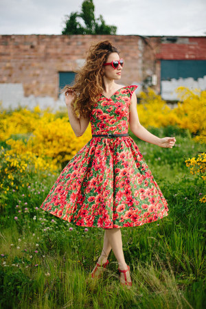 modcloth dress - Blowfish wedges