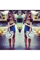 hm shirt - Nasty Gal skirt - Zara heels