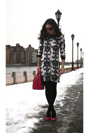 Catch Bliss Boutique dress - Forever 21 sweater - BCBG purse - Aldo heels