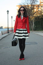 Zara blazer - kate spade purse - Catch Bliss skirt - De Janeiro top - Zara heels