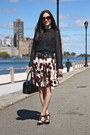Kate-spade-purse-dsw-tahari-heels-berry-print-anthropologie-skirt