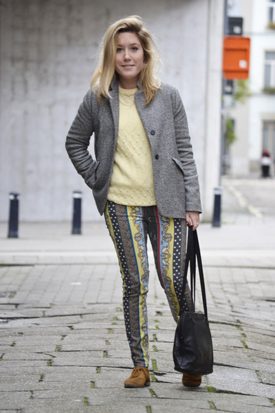 Zara shoes - Zara blazer - River Island pants - vintage jumper