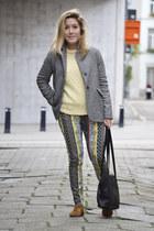 Zara shoes - Zara blazer - River Island pants - vintage jumper
