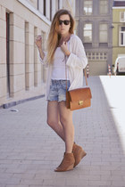 H&M shorts - Maket bag - Zara wedges