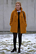Zara coat - vintage shoes - vintage bag - Zara blouse - vintage skirt