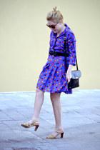 vintage dress - vintage bag - vintage sandals