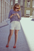 vintage loafers - vintage shorts - H&M jumper