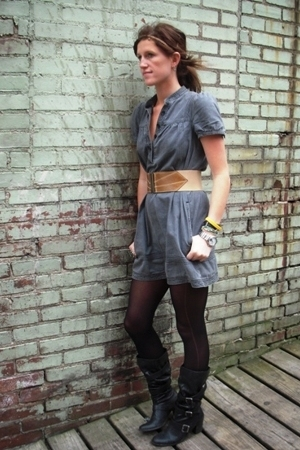 H&amp;M dress - Target boots - Rampage belt