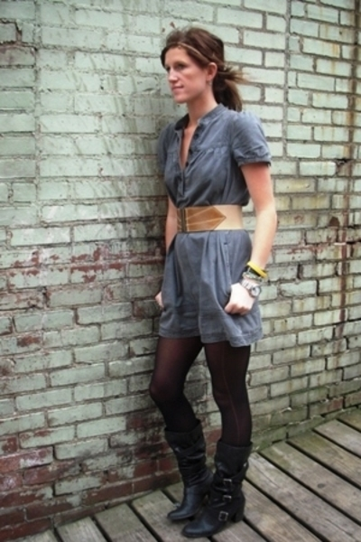H&M dress - Target boots - Rampage belt