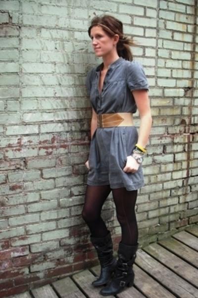 H&M dress - Target boots - Rampage belt