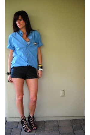Puritan shirt - forever 21 shorts - Aldo shoes