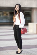H&M pants - Primark shirt - donna karan bag - Salvatore Ferragamo heels