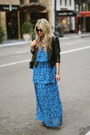 Blue-patterson-j-kincaid-dress-black-zara-jacket