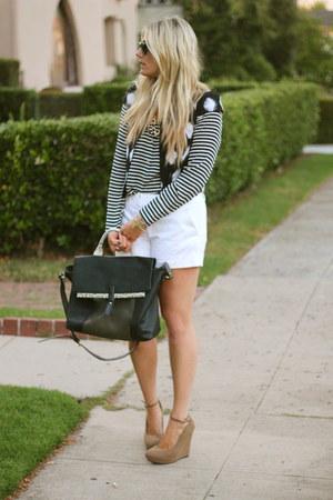 Zara bag - J Crew blouse