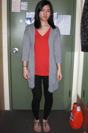 Gap shirt - Gap sweater - H&M leggings - Dollhouse shoes