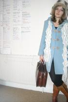 blue Miss Selfridges coat - white Miss Selfridges scarf - white Animal hat