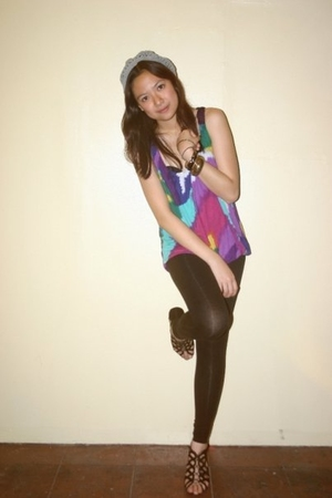 Forever21 top - Zara tights - ichigo shoes