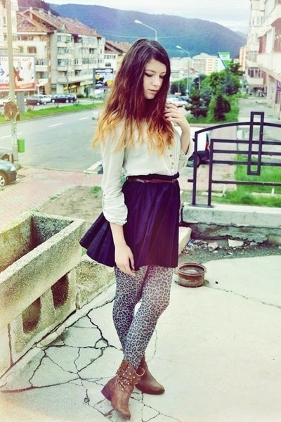 Bershka shirt - black H&M skirt