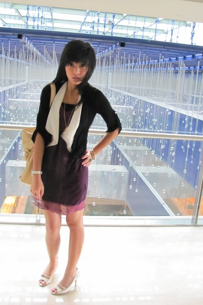 Zara dress - Body&Soul cardigan - Charles & Keith shoes - elle accessories