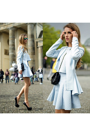 light blue Mango skirt