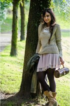 Stradivarius jumper - pull&bear boots - el corte ingles bag - Pimkie skirt