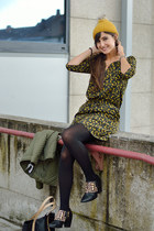 Primark hat - Zara boots - Mango dress - Mango bag