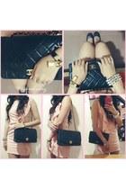 black Chanel bag - black kelly Hermes watch