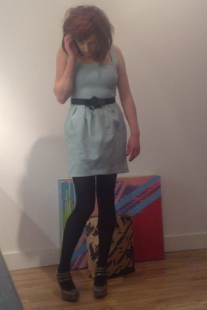 River Island dress - M&amp;S tights - Topshop shoes