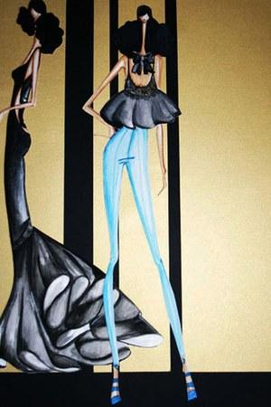black Comely dress - black Comely jeans - black Comely top