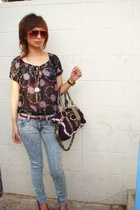 Charlotte Russe top - Lux pants - Guess purse - superturbo accessories