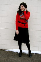 black modcloth boots - red Target sweater