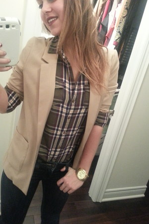 H&M jeans - H&M blazer - Forever 21 top - Michael Kors watch