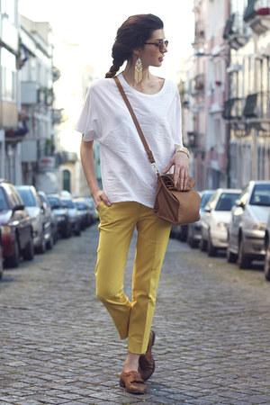 Zara bag - Zara pants - H&M earrings