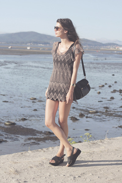 crochet Zara shorts - Zara sandals - crochet handmade top