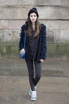 Urban Outfitters cardigan - el corte ingles hat - vintage bag - adidas sneakers