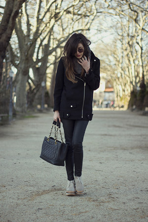 Zara jacket - Eureka Shoes shoes - Chanel bag - vintage sunglasses