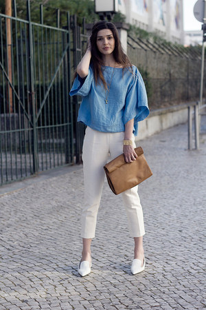 Zara bag - H&M pants - Zara top - Zara flats