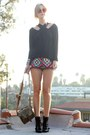 Nine-west-boots-vintage-shirt-army-vintage-bag-lenni-vintage-shorts