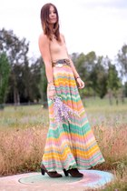 Forever 21 boots - vintage accessories - maxi vintage skirt - American Apparel b