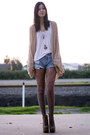 Vintage-shorts-jc-shoes-thrifted-cape-american-apparel-top-unearthen-nec