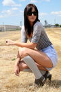 Anthropologie-blouse-target-socks-deena-and-ozzy-shoes-vintage-shorts