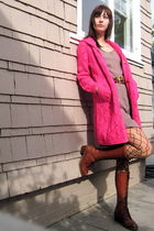 vintage sweater - vintage boots - Target tights - vintage dress - vintage belt -