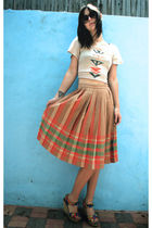 Cynthia Vincent shoes - pleated vintage skirt