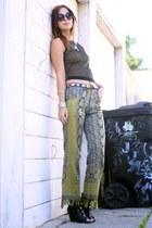 vintage pants - sheer fat top