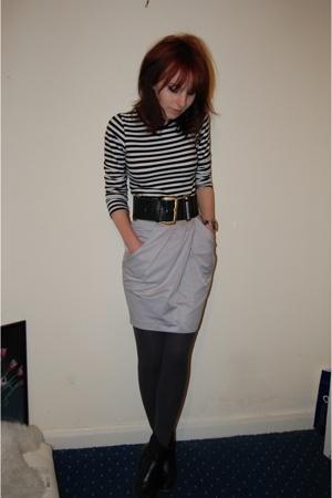 shirt - Topshop belt - Topshop skirt - Topshop boots