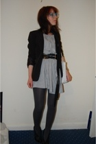 Topshop blazer - American Apparel dress - Topshop shoes