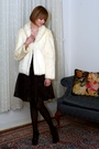 Black-karen-millen-dress-white-vintage-jacket-black-report-signature-shoes-